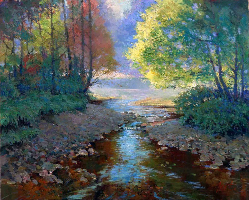 Лесной ручей. х.м. 80х100. 2014
