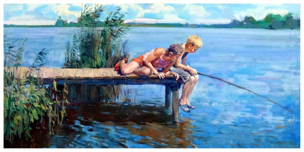 На рыбалке 1. х.м. 70х130. 2015
