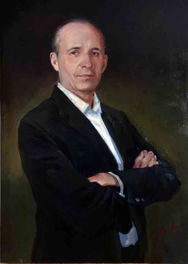 Портрет Евгения Немцова. 2017 г., 50х70, х.м.