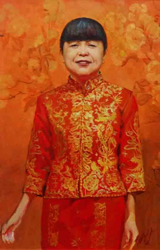 Портрет госпожи Ван Пин. х.м. 60х90. 2017