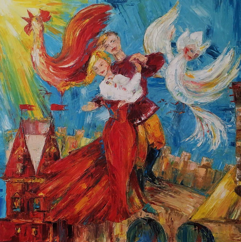 Сон в красном тереме. Праздник. 2017г. х.м. 80х80