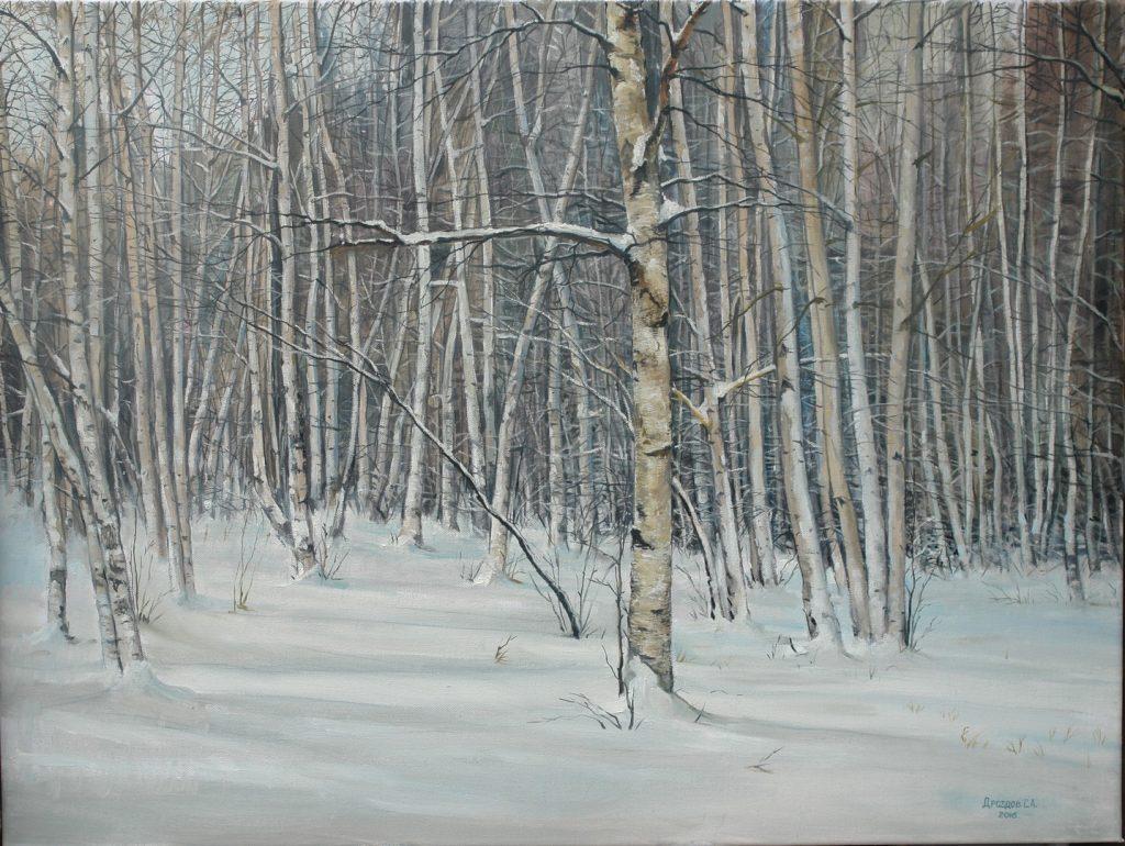 Березы в снегу. Дроздов С.А. 60х80