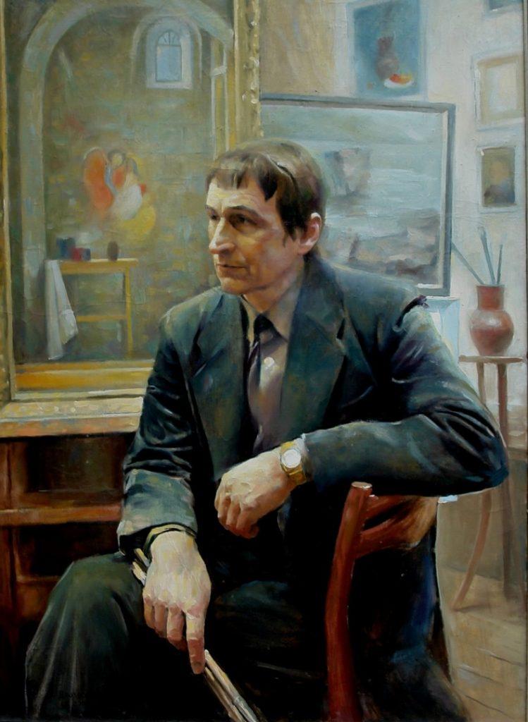 Портрет отца. Дроздов С.А. Холст, масло,73x100. 2006 г.