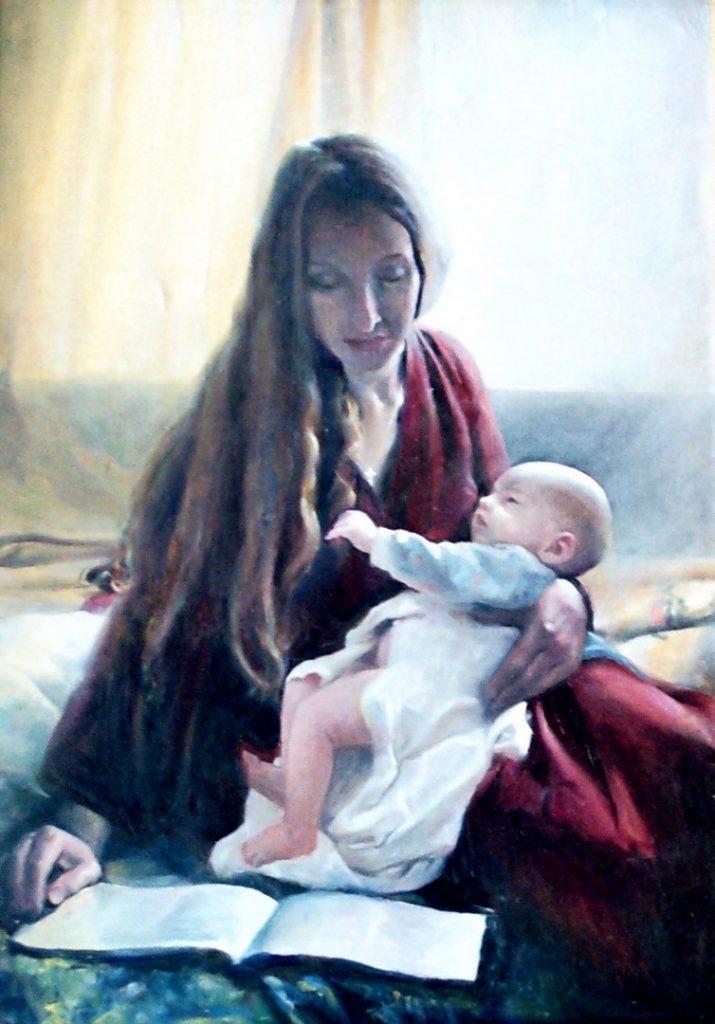 Мать и дитя. Дроздов С.А. Холст, масло, 63х92. 2004 г.