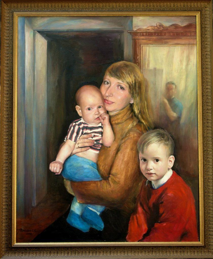 Моя семья. Дроздов С.А. 80х100. 2008 г.