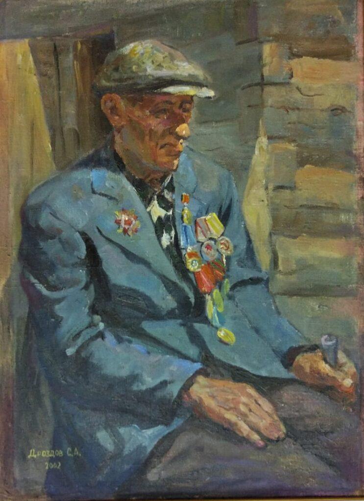 Портрет Фёдора Трофимовича. Дроздов С.А. Холст на оргалите, масло, 53х72, 2002 г.